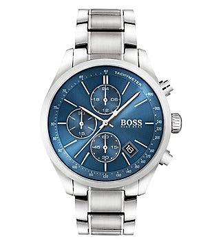 BOSS Hugo Boss Grand Prix Chronograph & Date Stainless Steel Bracelet Watch