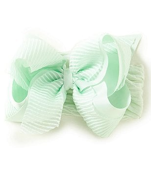 Starting Out Baby Girls Striped Organza Bow Headband