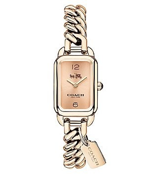 COACH LUDLOW CARNATION CHAIN LINK BRACELET WATCH
