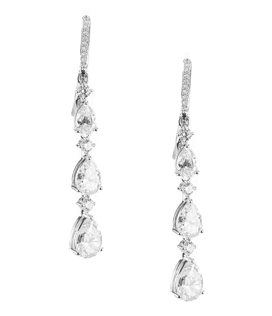 Nadri Talia Cubic Zirconia Linear Drop Earrings