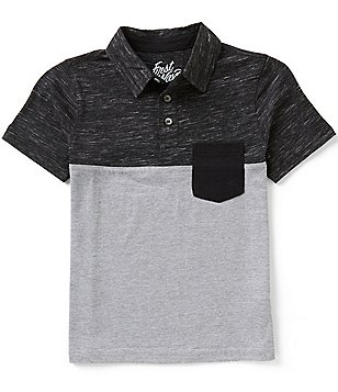 First Wave Big Boys 8-20 Color Blocked Polo Shirt