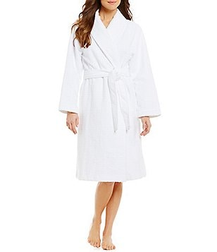 iRelax Velour Terry Jacquard Wrap Robe