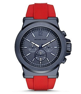 Michael Kors Dylan Chronograph & Date Silicone-Strap Watch