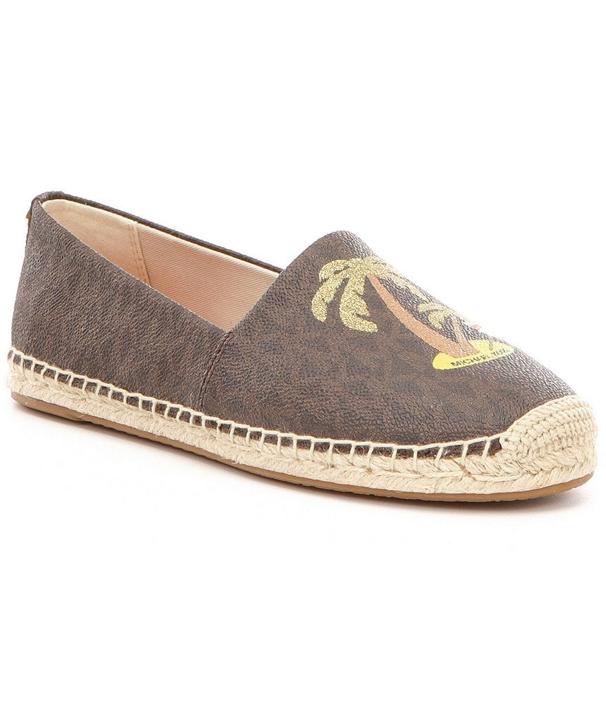 michael michael kors kendrick slip on signature logo espadrilles dillards. Black Bedroom Furniture Sets. Home Design Ideas