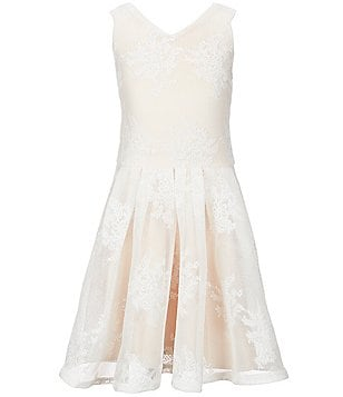 Miss Behave Big Girls 8-16 Audrey Floral Embroidered Mesh Dress
