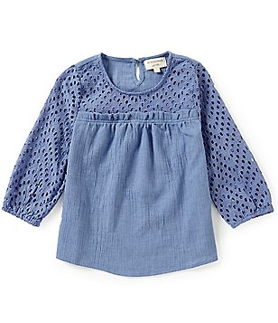 Blu Pepper Big Girls 7-16 Woven Denim Top