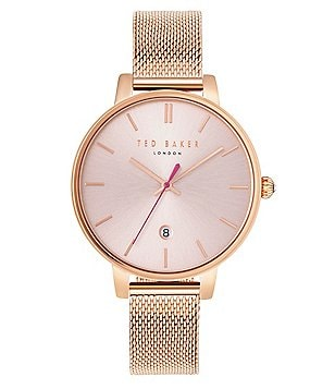Ted Baker London Kate Analog & Date Mesh Bracelet Watch