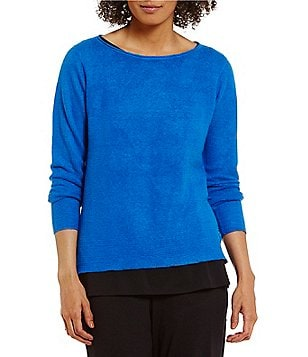Eileen Fisher Bateau Neck Sweater Top