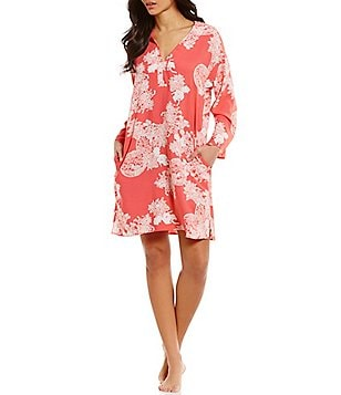 N by Natori Reign of Flowers Challis Sleepshirt