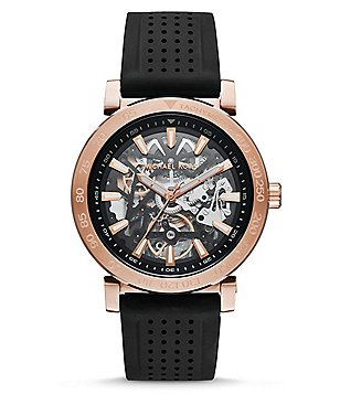 Michael Kors Greer Automatic Silicone-Strap Watch