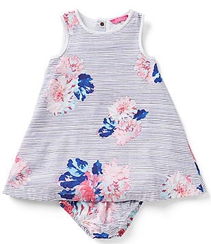 Joules Baby/Little Girls 12 Months-3T Bunty Floral Stripe Woven Dress