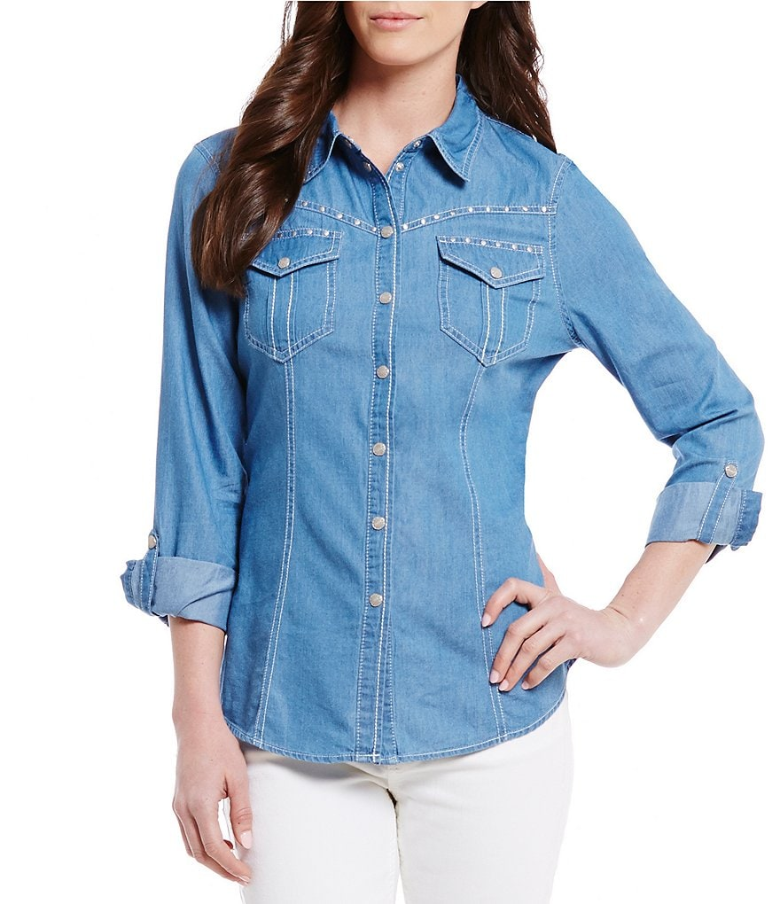 Reba Studded Denim Shirt