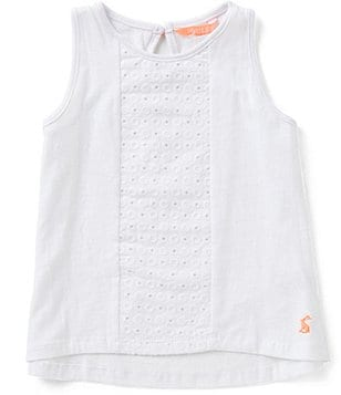 Joules Little Girls 3-6 Cicely Lace-Panel Tank Top