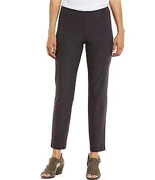 Eileen Fisher Petite Slim Ankle Pants with Yoke