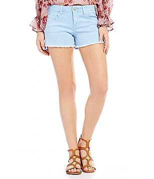 Celebrity Pink Frayed Hem Stretch Denim Shorts