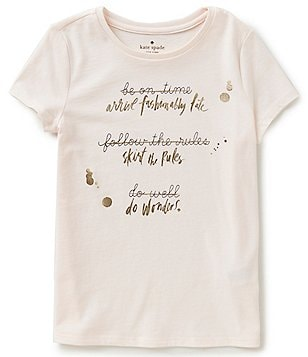 kate spade new york Big Girls 7-14 Resolution Graphic Tee