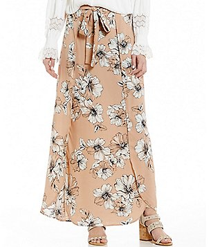 Blu Pepper Floral-Printed Wrap Maxi Skirt