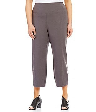 Eileen Fisher Plus Foldover Lantern Ankle Pants
