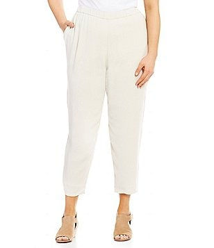 Eileen Fisher Plus Straight Cropped Pants
