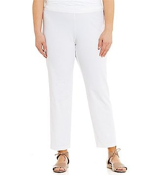 Eileen Fisher Plus Crepe Ankle Pants