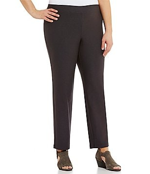 Eileen Fisher Plus Slim Ankle Stretch Crepe Pants