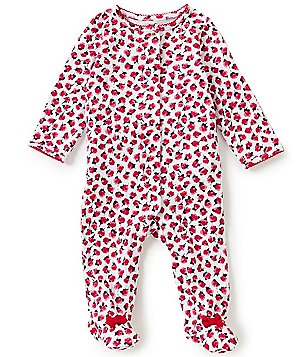 kate spade new york Baby Girls 3-9 Months Ruffle Rose Footed Coverall