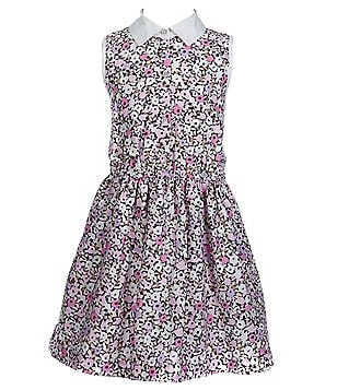 kate spade new york Big Girls 7-14 Sleeveless Floral-Print Shirtdress