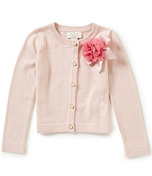 kate spade new york Little Girls 2-6 3D-Rosette Cardigan
