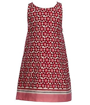 kate spade new york Big Girls 7-14 Geo Floral-Print Sleeveless Shift Bow Dress