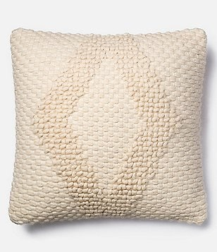 Magnolia Home by Joanna Gaines Fae Cotton & Wool Square Feather Pillow