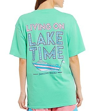 Jadelynn Brooke Lake Time Short-Sleeve Pocket Graphic Tee