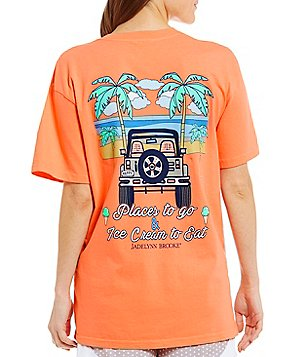 Jadelynn Brooke Spring Jeep V-Neck Short-Sleeve Graphic Tee