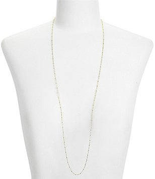 Argento Vivo Beaded Bar Chain Necklace