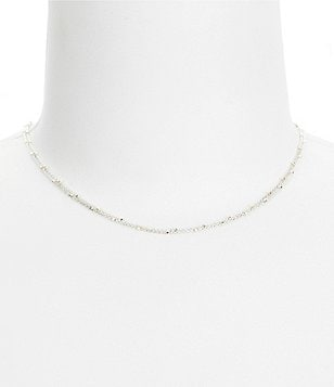 Argento Vivo Two-Tone Beaded Chain Choker Necklace