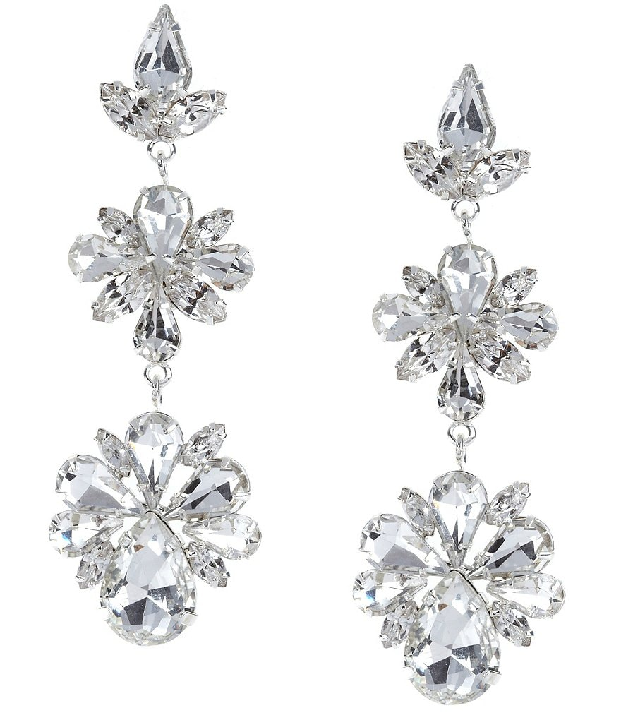 Cezanne Cluster Drop Chandelier Earrings