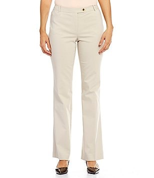 Calvin Klein Stretch Cotton Sateen Suiting Modern Fit Straight-Leg Pants