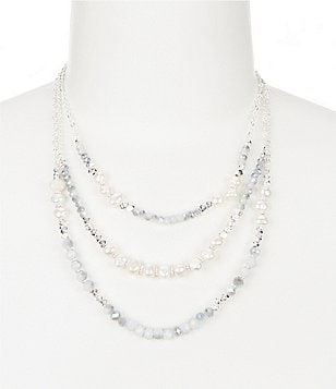 Dillard´s Tailored Beaded Triple-Strand Necklace