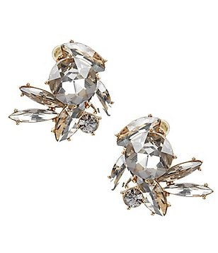 Natasha Accessories Maci Web Stone Statement Stud Earrings