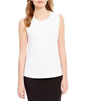 Calvin Klein Petites Mixed Media Knit Top