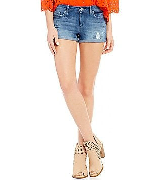Jessica Simpson Forever 5-Pocket High Rise Stretch Shorts