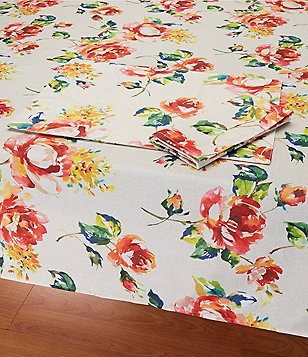 Fiesta Floral Bouquet Table Linens