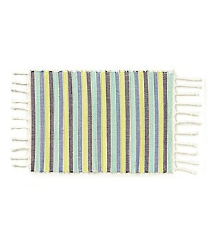 Fiesta Cary Striped Braided Fringe Placemat