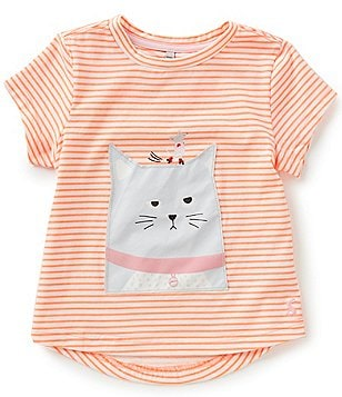 Joules Little Girls 3-6 Cat Appliqué Short-Sleeve Tee
