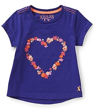 Joules Little Girls 3-6 Heart Appliqué Short-Sleeve Tee