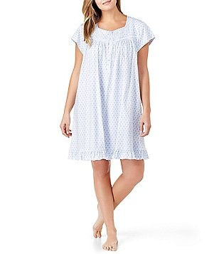 Eileen West Plus Geometric Jersey Nightgown