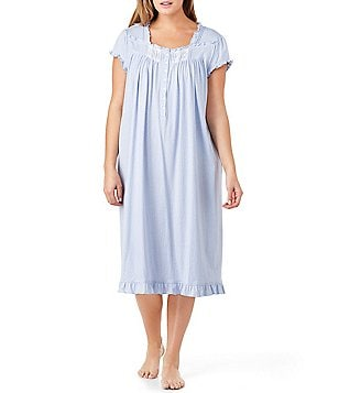 Eileen West Plus Dotted Jersey Waltz Nightgown