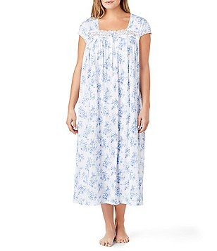 Eileen West Plus Floral Jersey Ballet Nightgown
