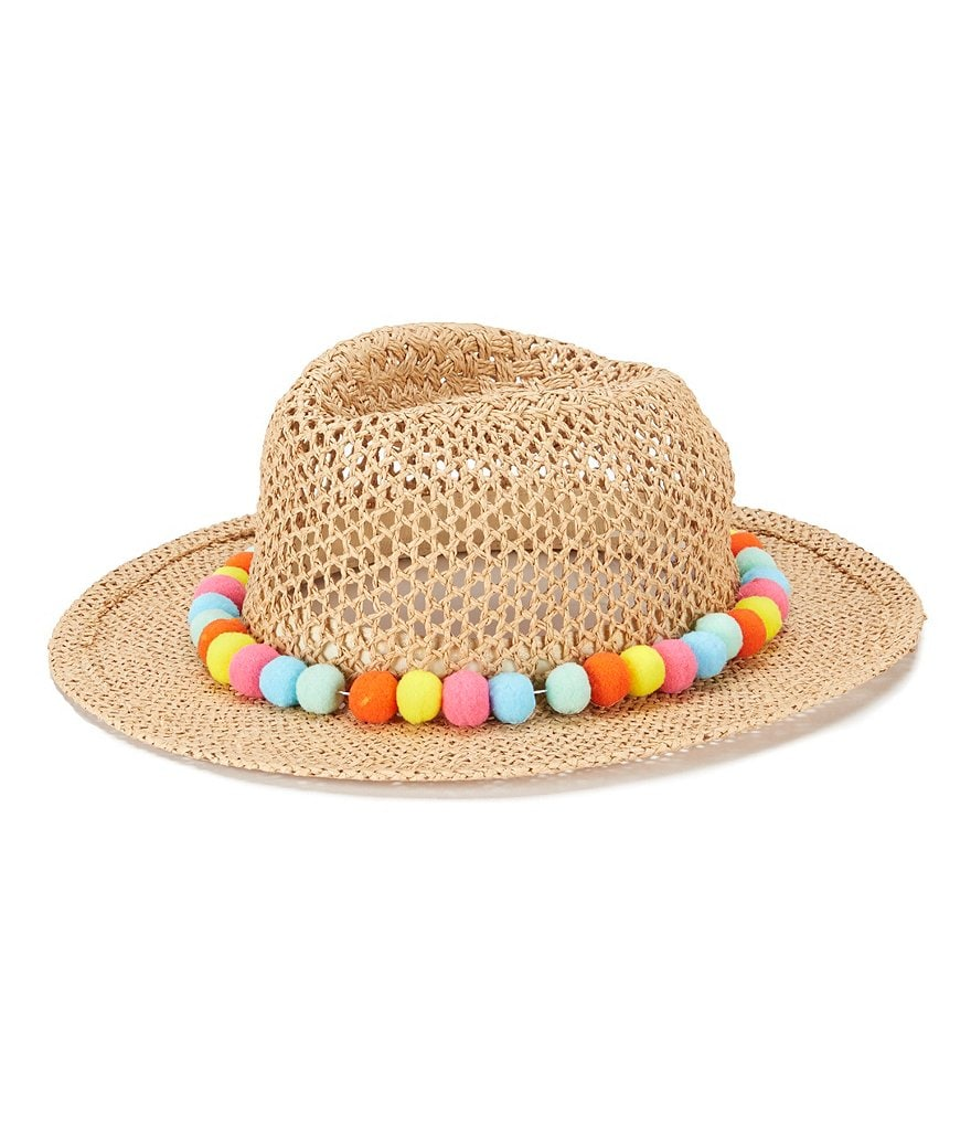 August Hats Gypsy Delight Pom Pom Sun Fedora
