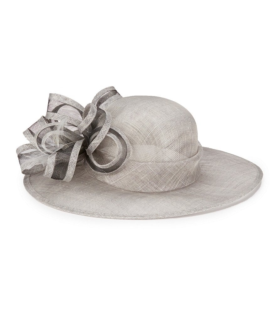 Edwardian Style Hats, Titanic Hats, Derby Hats August Hats Gardenia Sinamay Dress Hat $128.00 AT vintagedancer.com