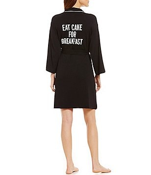kate spade new york Eat Cake For Breakfast French Terry Wrap Robe